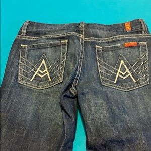 """7 for all mankind """"A"""" pocket jeans sz 26"""